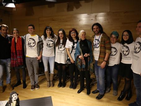 La Dra. Jane Goodall se reúne con algunos de los grupos R&B en su visita a Madrid