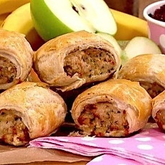 Turkey, Stuffing & Cranberry Sausage Roll