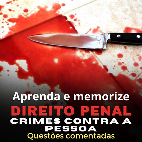Crimes contra a pessoa: Aprenda e memorize.