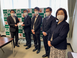 新型コロナウイルス感染問題で、市長に申し入れ