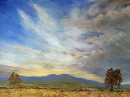 One more cloud painting.......couldn't resist it!