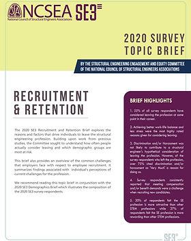 2020 SE3 Survey - Retention and Recruitm