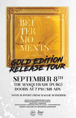 Opening for Boys of Fall 9/8