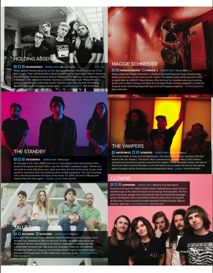 Featured in Alternative Press Issue #369