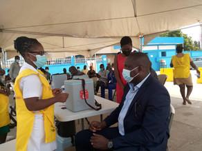 Tema Metropolitan Chief Executive received the COVID-19 vaccination in Tema