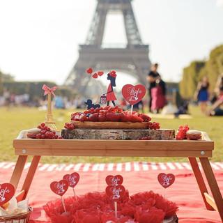 Picnic em Paris plano aniversário