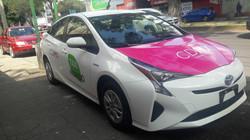 Rotulación completa de un taxi