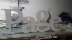 Letras en Aluminio.