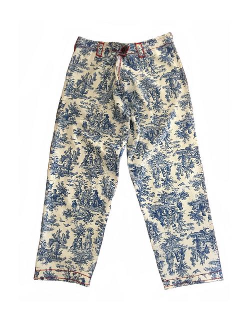Blue Toile Pants