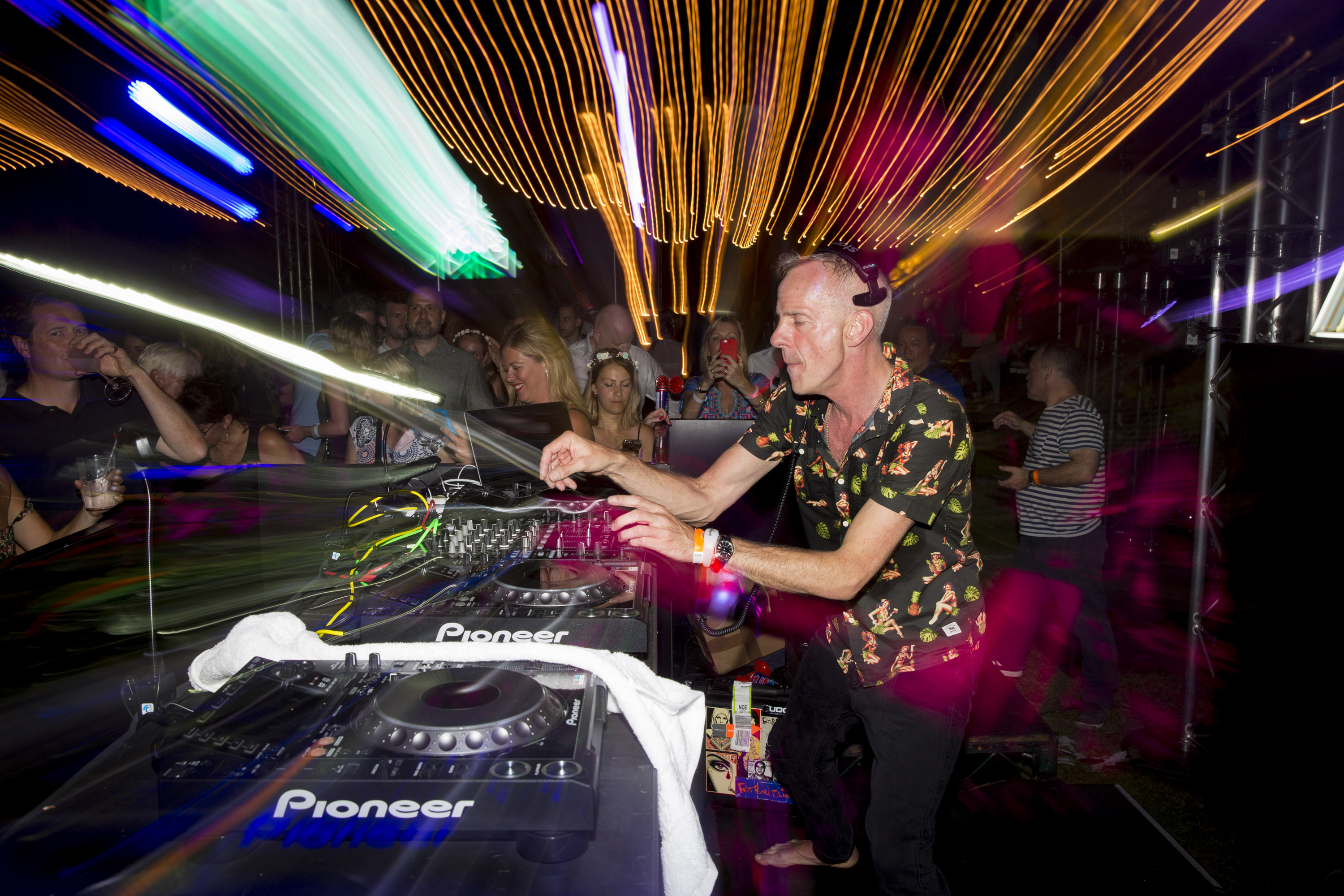 Fatboy Slim djing at party