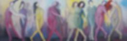 Dance of silence , 25102016 oil on canva