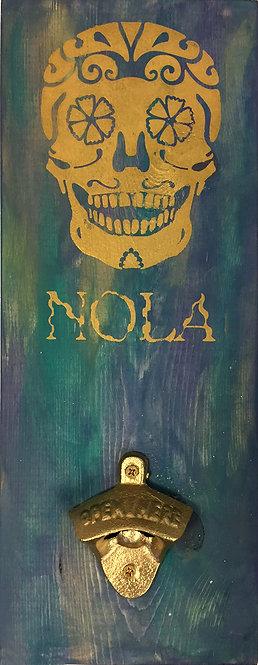 NOLA Bottle Opener - Mardi Gras Colors