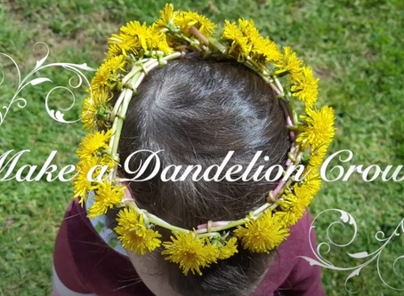 Making a Dandelion Crown