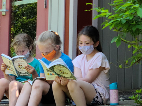 1st Grade Reading in Nature