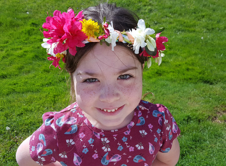 Celebrate May Fair with a Fabric Scrap Flower Crown!