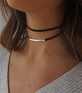 Double Layer Bended Bar Choker