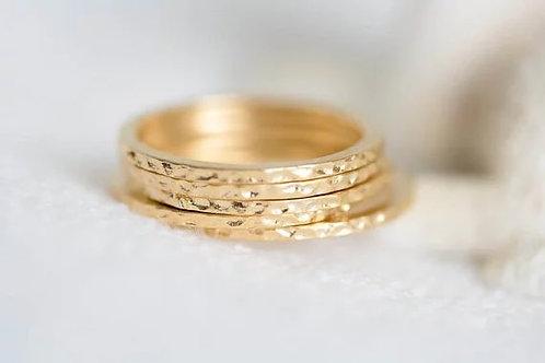 Hammered Midi Ring