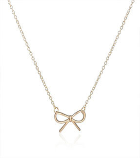 Dainty Craft Bow Tie Necklace