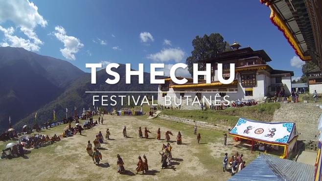 Não perca a chance de visitar um Tshechu Butanês.