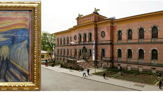 Em Oslo, capital da Noruega, dois Gritos de Munch.