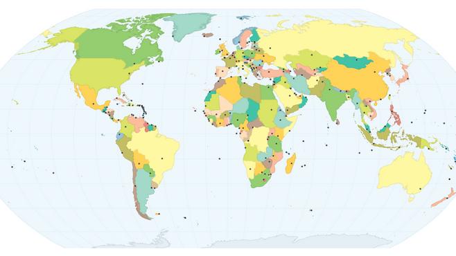 Passatempo irresistível: o Mundo, seus Países e Capitais.