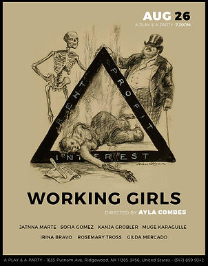 """Working Girls"" by Ayla Combes, starring Irina Bravo, Gilda Mercado, Sofia Gomez, Kanja Grobler, Muge Karagulle, Rosemary Tros and Jatna Marte"