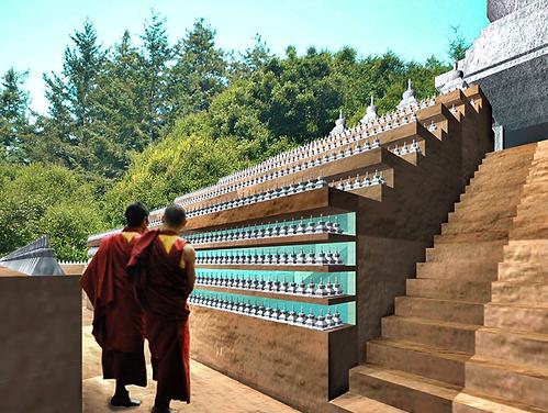 buddhist architect tibetan buddhism stupa rotondi