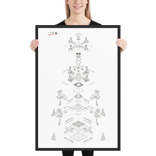 Framed Ari Bhod Exploded Axonometric Diagram