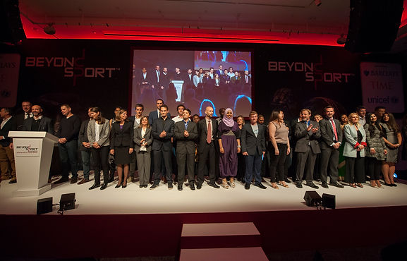 Beyond Sport Winners and Shortlisters on stage in London