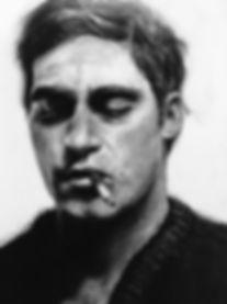 Joaquin Phoenix charcoal by Linda Jácome