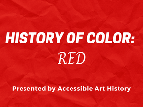 History of Color: Red