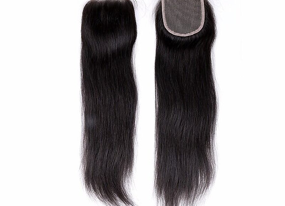 LHS Cambodian Cashmere Natural Straight 5X5 Closure