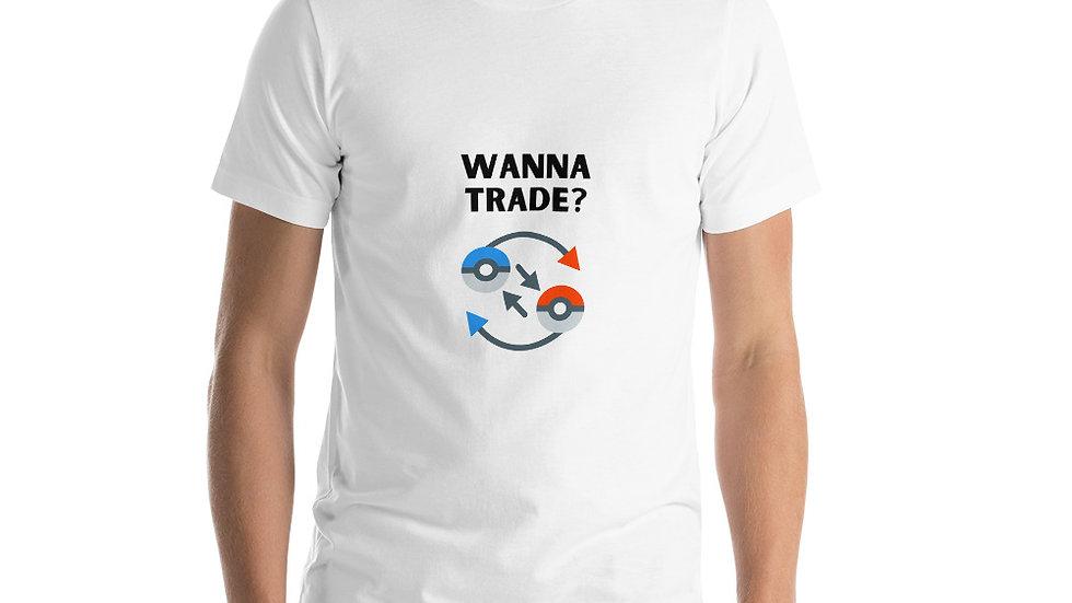 Pokemon Wanna Trade? Short-Sleeve Unisex T-Shirt
