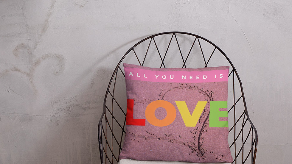 All You Need is Love Basic Pillow