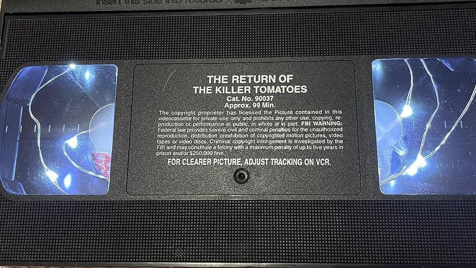 Return of the Killer Tomatoes VHS Nightlight