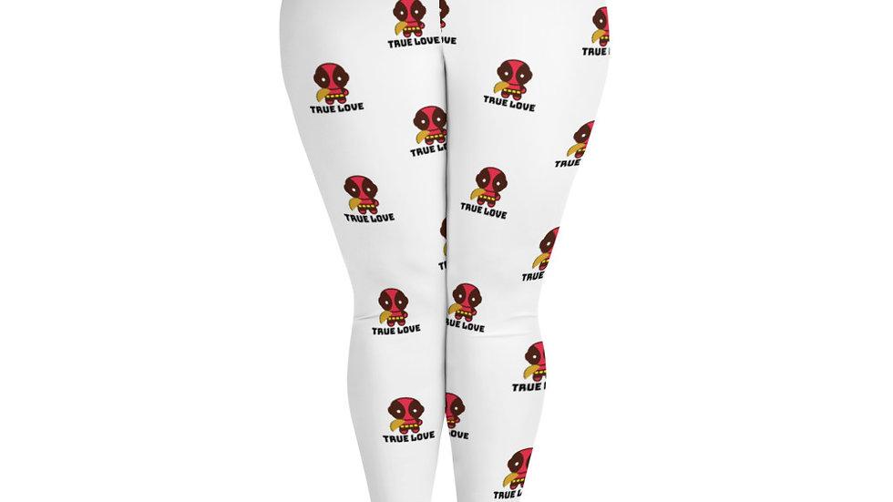 Deadpool True Love All-Over Print Plus Size Leggings