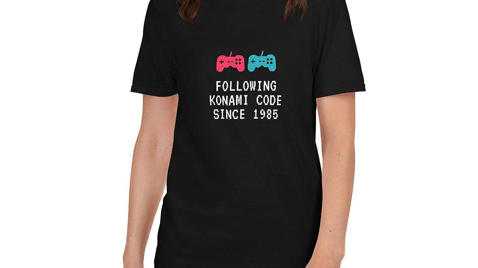 Konami Code Short-Sleeve Unisex T-Shirt