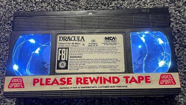 Dracula VHS Nightlight