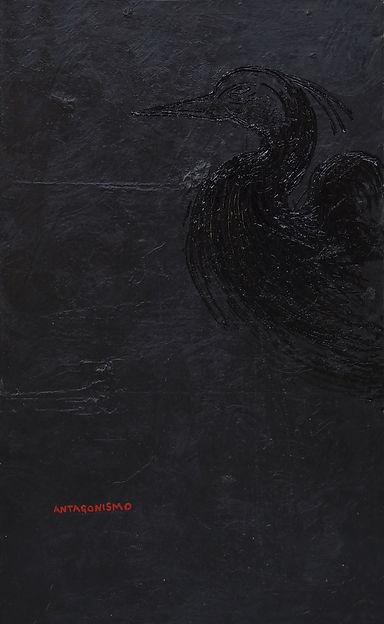 ANTAGONISMO mixta sobre tela 220x140cm.j