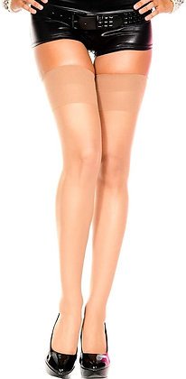 Medias de Nylon Beige - Music Legs sheer thigh hi