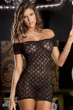 René Rofé Sexy Seamless Shredded Mini Dress - Talla Unica.