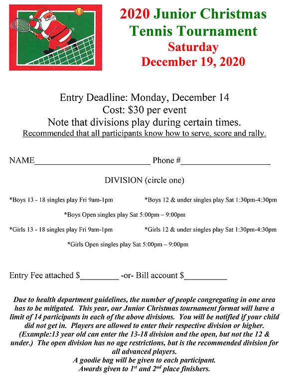 junior christmas tennis tournament_2020