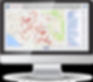 Screenshot of Healthcare website with active maps.
