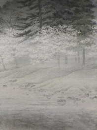 "Detail ""Foggy spring day"""