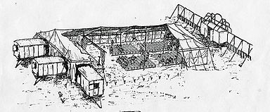 Cut out sketch of the Harlem Tent
