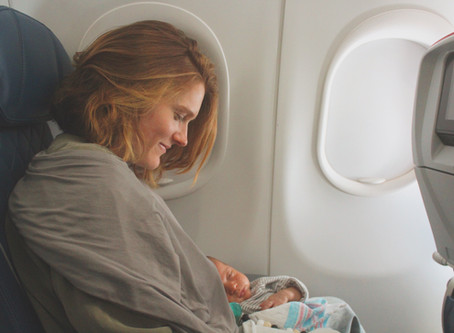 Flying + Baby = 😲? Tips for Navigating the Stress of Traveling with A Little One.