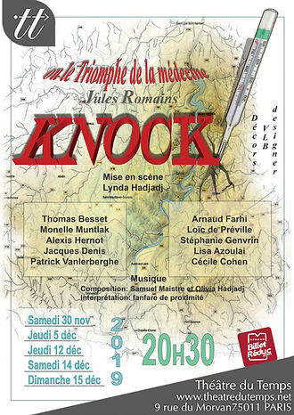 KNOCK AFFICHE theatre du temps LOGO BILL