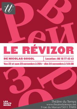 Affiche_Révizor_Théâtre_du_Temps_nov_201