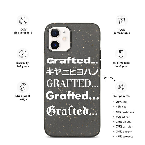 'Grafted' Multi Logo Biodegradable phone case