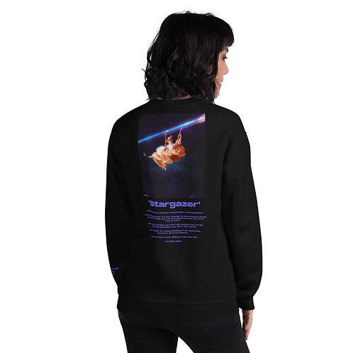 'Stargazer' Unisex Sweatshirt With Back Print and Logo's